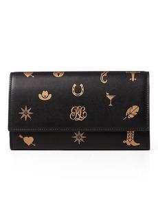 Ralph Lauren RL Charm Motif Calfskin Wallet