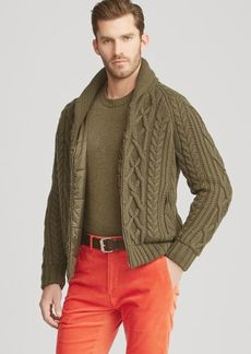 Ralph Lauren RLX Cable-Knit Hybrid Jacket