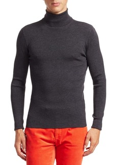 Ralph Lauren RLX Wool Ribbed Knit Turtleneck