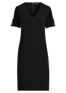 Ralph Lauren Roll-Tab-Sleeve Shift Dress