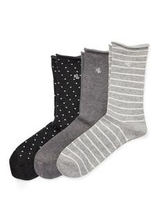 Ralph Lauren Roll-Top Sock 3-Pack