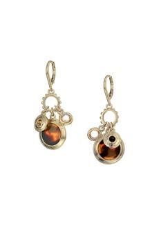 Ralph Lauren Rose Shaky Charm Drop Earrings