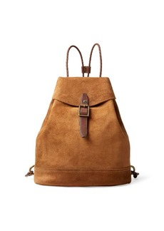 Ralph Lauren Roughout Leather Backpack