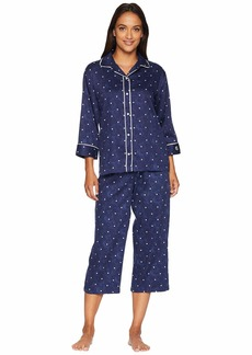 Ralph Lauren Rounded Collar Double Piped Capris Pajama Set