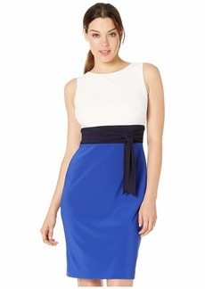 Ralph Lauren Rozelynda Three-Tone Dress
