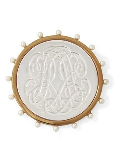 Ralph Lauren RR-Engraved Brooch