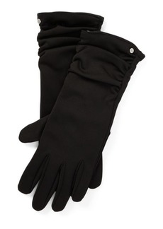 Ralph Lauren Ruched-Cuff Tech Gloves