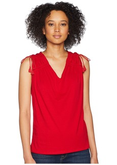 Ralph Lauren Ruched Shoulder Tank Top