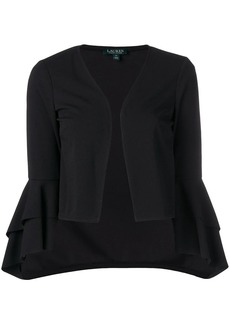 Ralph Lauren ruffle cropped jacket