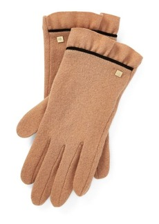 Ralph Lauren Ruffle-Cuff Wool Tech Gloves