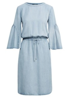 Ralph Lauren Ruffle-Sleeve Drawstring Dress