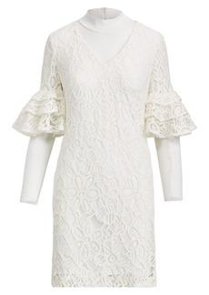 Ralph Lauren Ruffle-Sleeve Lace Dress