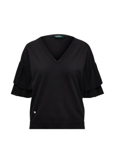 Ralph Lauren Ruffle-Sleeve Top