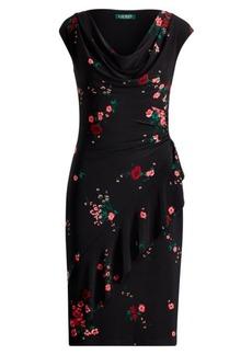 Ralph Lauren Ruffle-Trim Floral Dress
