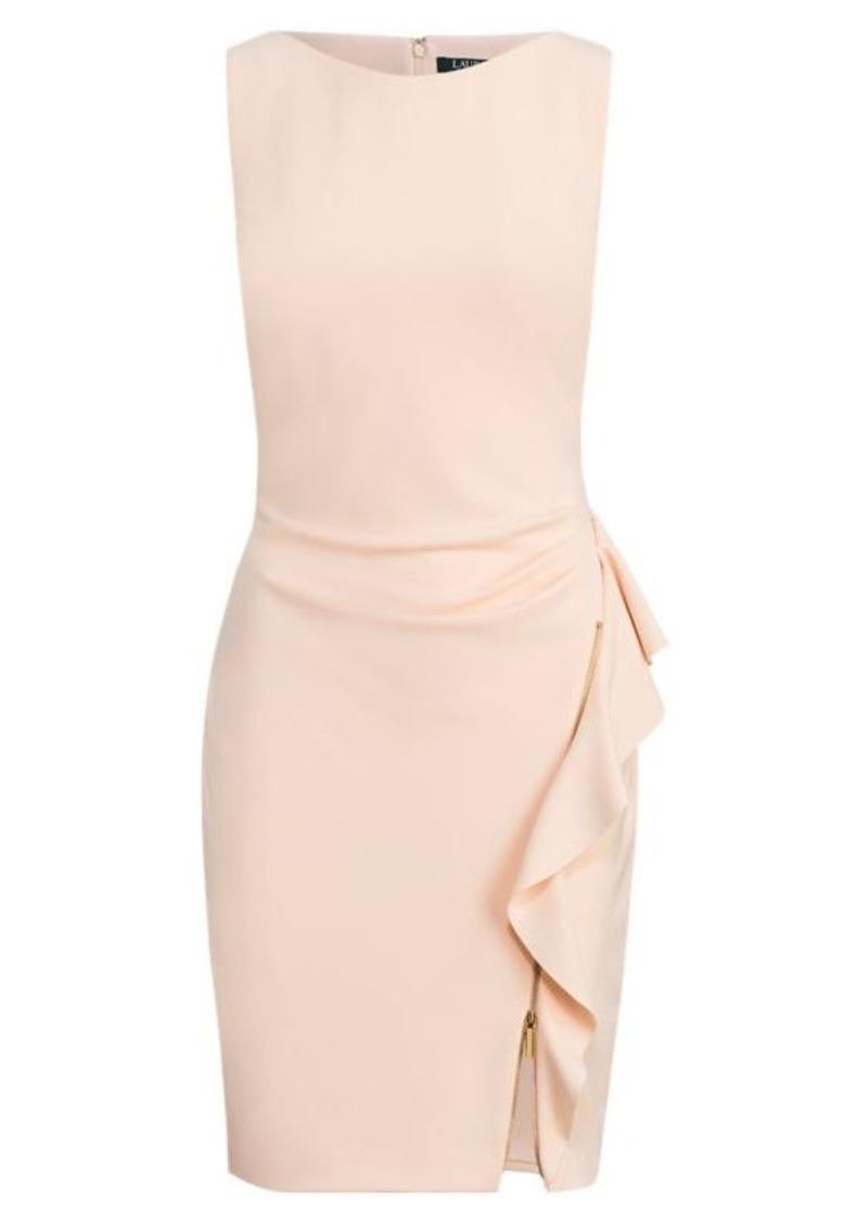 Ralph Lauren Ruffle-Trim Jersey Dress