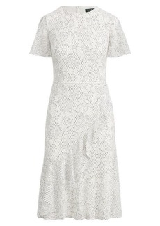 Ralph Lauren Ruffle-Trim Lace Dress