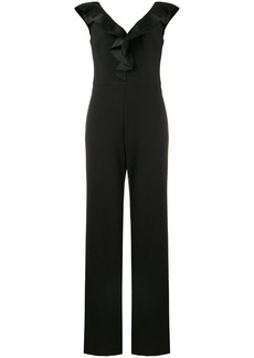 Ralph Lauren ruffle trim V-neck jumpsuit