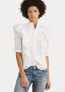Ralph Lauren Ruffled Broadcloth Button-Down