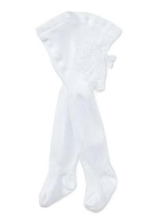 Ralph Lauren Ruffled Cotton-Blend Tights
