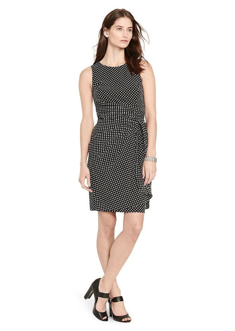 Ralph Lauren Ruffled Crepe Dress