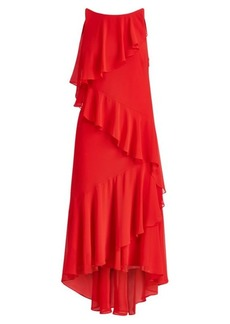 Ralph Lauren Ruffled Georgette Gown