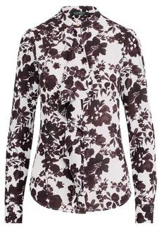 Ralph Lauren Ruffled Georgette Shirt