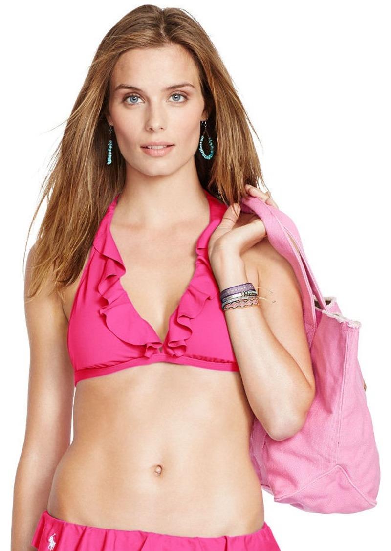 Ralph Lauren Ruffled Halter Bikini Top