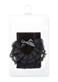 Ralph Lauren Ruffled Lace Tights