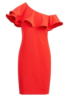 Ralph Lauren Ruffled One-Shoulder Dress