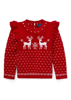 Ralph Lauren Ruffled Reindeer Sweater