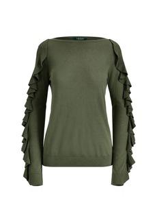 Ralph Lauren Ruffled Silk-Blend Sweater