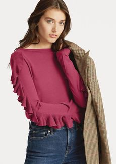 Ralph Lauren Ruffled Silk-Blend Sweater