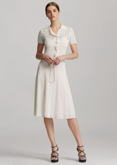 Ruffled Silk Polo Dress