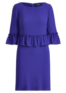 Ralph Lauren Ruffled Stretch Jersey Dress