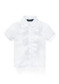 Ralph Lauren Ruffled Voile Shirt