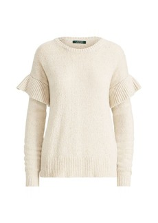 Ralph Lauren Ruffled Wool-Blend Sweater