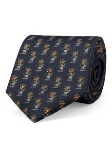 Ralph Lauren Rugby Bear Silk Narrow Tie