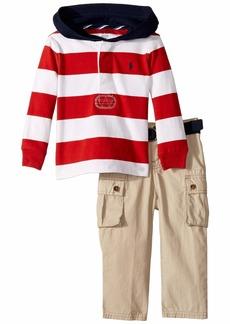 Ralph Lauren Rugby Hoodie & Belted Pants Set (Infant)
