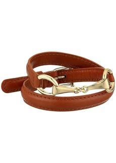 "Ralph Lauren Saddle 16"" Leather Wrap Bracelet"