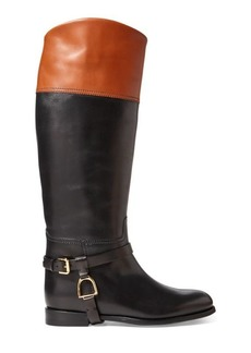 Ralph Lauren Sade Burnished Calfskin Boot