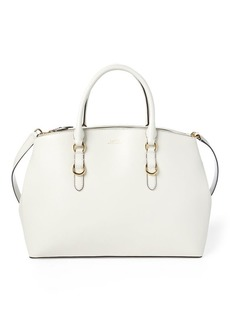 Ralph Lauren Leather Double-Zip Satchel