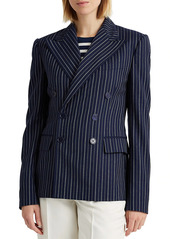 Ralph Lauren Safford Wool-Cashmere Pinstripe Jacket