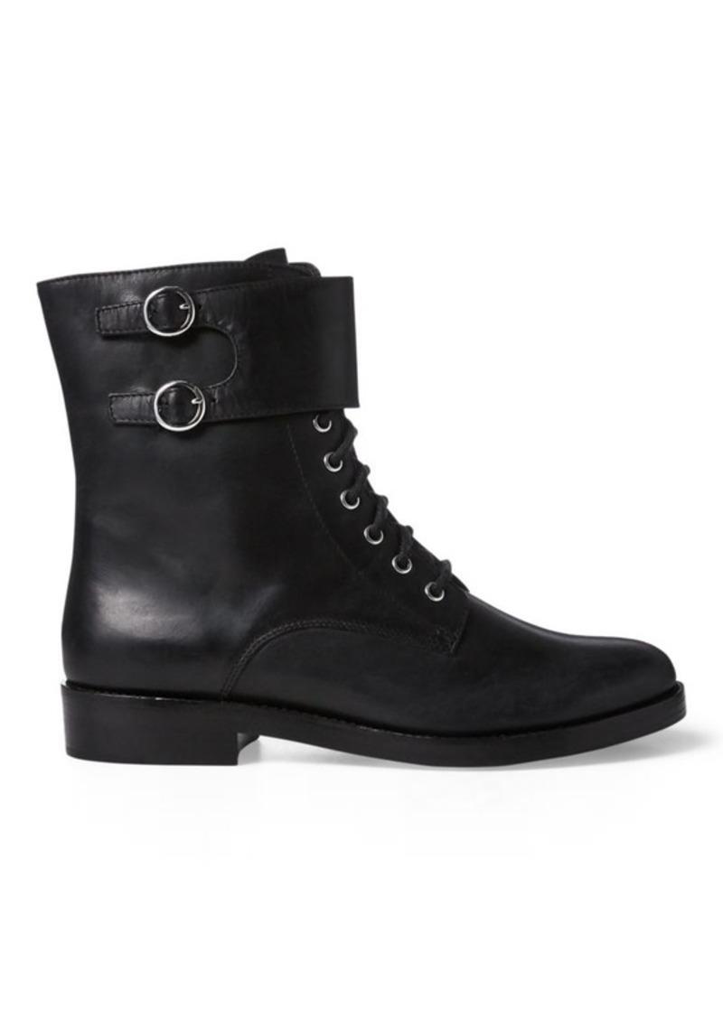 Ralph Lauren Saige Leather Combat Boot