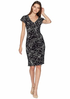Ralph Lauren Samson Floral Cap Sleeve Day Dress