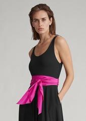 Ralph Lauren Sash Jersey A-Line Dress