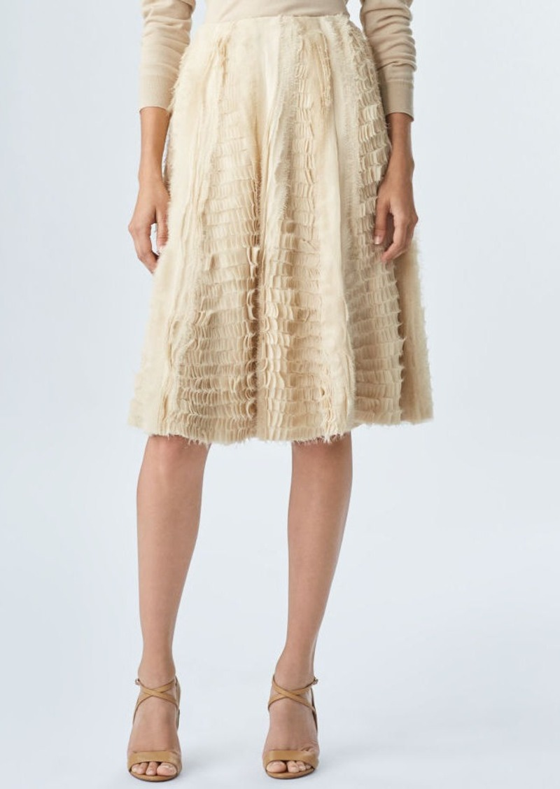 Ralph Lauren Sasha Silk Georgette Skirt