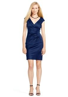 Satin Cap-Sleeve Dress