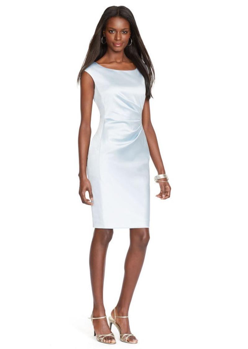 Ralph Lauren Satin Cap-Sleeved Dress