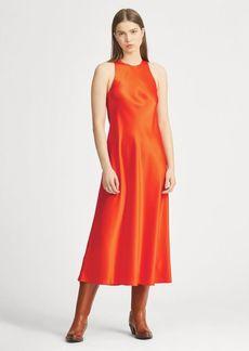 Ralph Lauren Satin Crewneck Dress