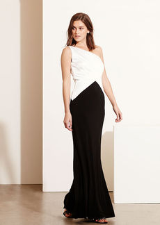 Satin-Jersey One-Shoulder Gown